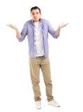 0 δυστυχισμένος νεαρός άνδρας Στοκ φωτογραφία με δικαίωμα ελεύθερης χρήσης