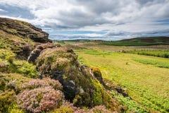 Δυτική άποψη από τους βράχους Wanney Στοκ Εικόνες