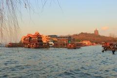 Δυτική λίμνη (xihu) σε Hangzhou της Κίνας Στοκ Φωτογραφία