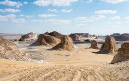 δυτικό λευκό της Αιγύπτου Σαχάρα ερήμων Στοκ Φωτογραφία