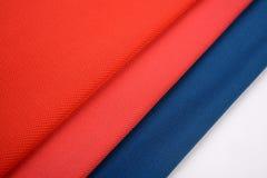 Υφάσματα βαμβακιού με τα διαφορετικά χρώματα Στοκ Εικόνα