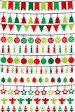 Υφάσματα και γιρλάντες Χριστουγέννων απεικόνιση αποθεμάτων
