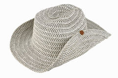 Υφαίνοντας καπέλο που απομονώνεται στην άσπρη ανασκόπηση Στοκ Εικόνες