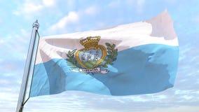 Υφαίνοντας σημαία της χώρας Άγιος Μαρίνος ελεύθερη απεικόνιση δικαιώματος