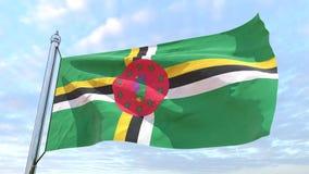 Υφαίνοντας σημαία της χώρας Δομίνικα διανυσματική απεικόνιση