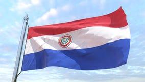 Υφαίνοντας σημαία της χώρας Παραγουάη διανυσματική απεικόνιση