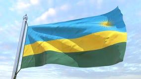 Υφαίνοντας σημαία της χώρας Ρουάντα ελεύθερη απεικόνιση δικαιώματος