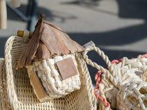 Υφαμένα καλάθια χειροποίητα Στοκ φωτογραφία με δικαίωμα ελεύθερης χρήσης