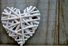 Υφαμένη καρδιά Στοκ φωτογραφίες με δικαίωμα ελεύθερης χρήσης