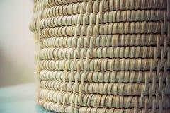 Υφαμένη μπαμπού σύσταση Στοκ Φωτογραφίες