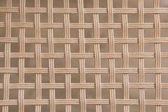 Υφαμένη μπαμπού ψάθινη τετραγωνική σύσταση σχεδίων Στοκ Φωτογραφία