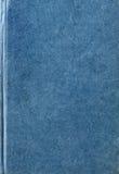 Υφαμένη σύσταση κάλυψης βιβλίων υφάσματος στο μπλε Στοκ Φωτογραφία