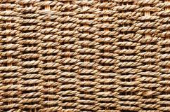 Υφαμένη σύσταση καλαθιών Κατασκευασμένο καλάθι φιαγμένο από φυσική ίνα ως α Στοκ φωτογραφία με δικαίωμα ελεύθερης χρήσης