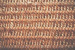 Υφαμένη σύσταση καλαθιών Κατασκευασμένο καλάθι φιαγμένο από φυσική ίνα ως α Στοκ Φωτογραφία