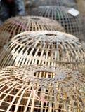 Υφαμένο κλουβί κοτών χεριών τέχνη Στοκ Εικόνα