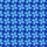 Υφαμένο μπλε σχέδιο Στοκ εικόνες με δικαίωμα ελεύθερης χρήσης