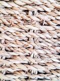 υφαμένο ψάθινο καλάθι σπάγγου Στοκ εικόνες με δικαίωμα ελεύθερης χρήσης