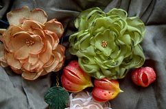 Υφαντικά λουλούδια Στοκ Εικόνα