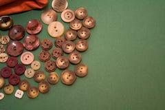 υφαντικά νήματα κουμπιών Στοκ Εικόνες