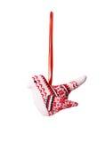 Υφαντικά παιχνίδια χριστουγεννιάτικων δέντρων Στοκ φωτογραφία με δικαίωμα ελεύθερης χρήσης