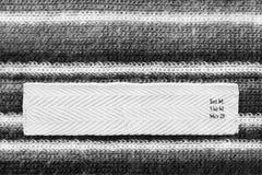 Υφαντική ετικέτα ενδυμάτων Στοκ εικόνα με δικαίωμα ελεύθερης χρήσης
