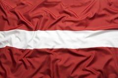 Υφαντική σημαία της Λετονίας Στοκ Εικόνα