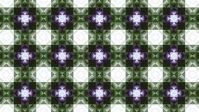 Υφαντικό γεωμετρικό σχέδιο πράσινη πορφύρα Rhombuses και τετράγωνα στοκ εικόνα