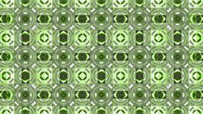 Υφαντικό γεωμετρικό σχέδιο Πράσινος και άσπρος rhombuses Κύκλοι και τετράγωνα Στοκ Εικόνες