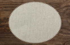 Υφαντικό επιτραπέζιο ξύλινο τρέκλισμα λινού πετσετών Στοκ φωτογραφία με δικαίωμα ελεύθερης χρήσης