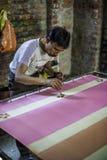 Υφαντικό εργοστάσιο στην Ινδία Στοκ φωτογραφία με δικαίωμα ελεύθερης χρήσης