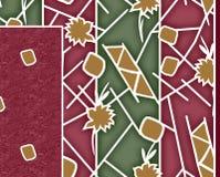 Υφαντικό σχέδιο μαντίλι τυπωμένων υλών Στοκ Εικόνα