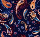 Υφαντικό σχέδιο μόδας Pailsey άνευ ραφής Διανυσματική απεικόνιση