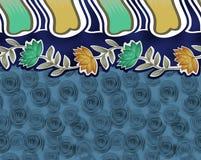 Υφαντικό σχέδιο συνόρων λουλουδιών Στοκ Φωτογραφία