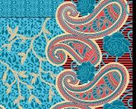 Υφαντικό σχέδιο του Paisley τυπωμένων υλών Στοκ Εικόνα