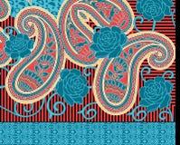 Υφαντικό σχέδιο του Paisley τυπωμένων υλών Στοκ εικόνες με δικαίωμα ελεύθερης χρήσης