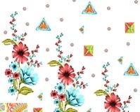 Υφαντικό σχέδιο τυπωμένων υλών λουλουδιών Στοκ φωτογραφία με δικαίωμα ελεύθερης χρήσης