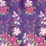 Υφαντικό σχέδιο με το floral υπόβαθρο διακοσμήσεων Στοκ φωτογραφία με δικαίωμα ελεύθερης χρήσης
