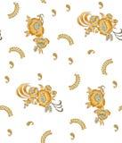 Υφαντικό floral σχέδιο τυπωμένων υλών Στοκ φωτογραφίες με δικαίωμα ελεύθερης χρήσης