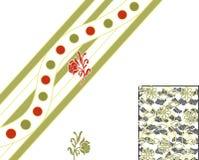 Υφαντικό floral σχέδιο τυπωμένων υλών Στοκ Φωτογραφίες