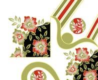 Υφαντικό floral σχέδιο τυπωμένων υλών Στοκ εικόνες με δικαίωμα ελεύθερης χρήσης