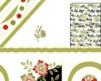 Υφαντικό floral σχέδιο τυπωμένων υλών Στοκ Εικόνα
