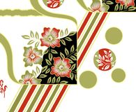 Υφαντικό floral σχέδιο τυπωμένων υλών Στοκ εικόνα με δικαίωμα ελεύθερης χρήσης