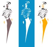 υψηλά μοντέλα μόδας διανυσματική απεικόνιση