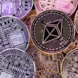 Υψηλά νομίσματα Ethereum αντίθεσης Στοκ φωτογραφίες με δικαίωμα ελεύθερης χρήσης