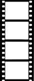 Υψηλά σύνορα λουρίδων ταινιών Contast Στοκ Εικόνες