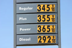 υψηλές τιμές αερίου Στοκ Εικόνες