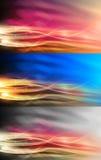 Υψηλής τεχνολογίας φλόγες πυρκαγιάς που τίθενται ζωηρόχρωμες Στοκ Εικόνες