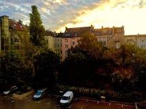 Υψηλή άποψη των γερμανικών κτηρίων στο Βερολίνο, Γερμανία στοκ φωτογραφία