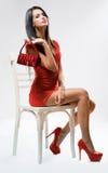 Υψηλή κόκκινη μόδα. Στοκ φωτογραφία με δικαίωμα ελεύθερης χρήσης