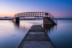 Υψηλή παλίρροια στη γέφυρα πουθενά Στοκ Φωτογραφίες